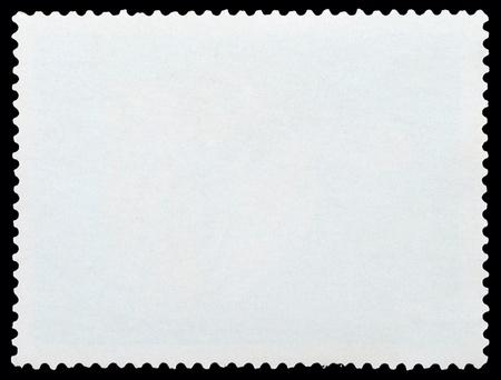 Blank Postage Stamp Framed by Black Border photo