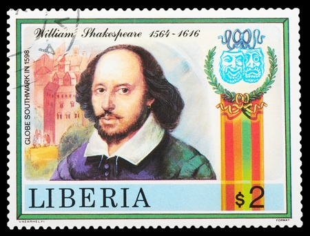 Liberia - CIRCA 1978: stamp printed by Liberia, shows Shakespeare's poems, circa 1978