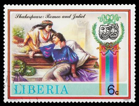 Liberia - CIRCA 1978: stamp printed by Liberia, shows Shakespeares poems, circa 1978