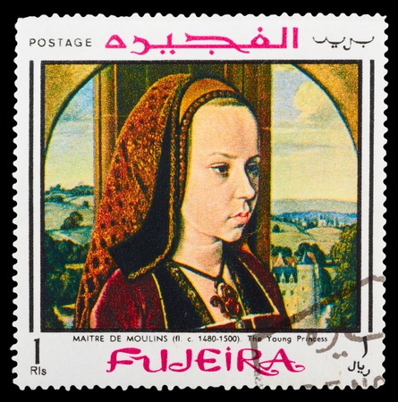FUJEIRA - CIRCA 1972: A stamp printed in Fujeira showing art - painting, circa 1972