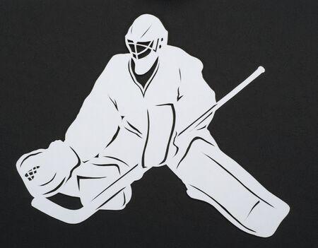 hockey goalie cut paper