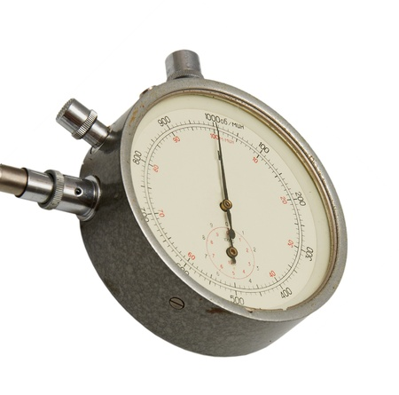 elapsed: instrument for measuring speed isolated on a white background