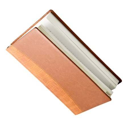 The diary isolated on a white background photo