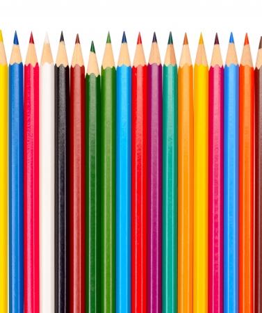 colores pastel: Los l?pices de colores aislados en un fondo blanco Foto de archivo