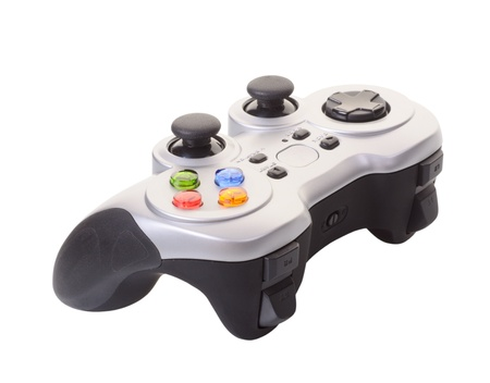 Game controller isolated on a white background