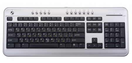 computer keyboard isolated on a white background photo