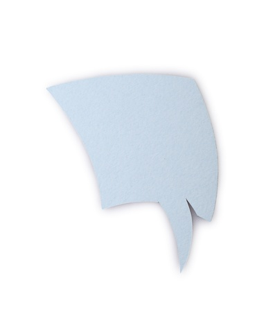 The paper speech bubble isolated on a white backgound