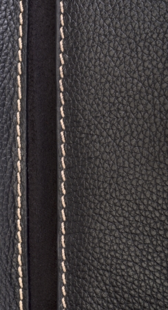 patching: Leather texture colose-up with linear stiches