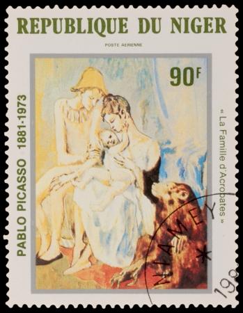 pablo: NIGER - CIRCA 1981: Un timbro stampato in Niger, mostra dipinto di Pablo Picaso, circa 1981