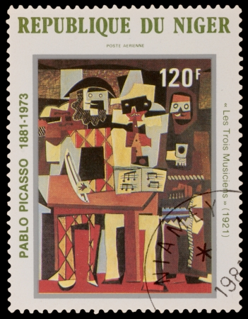 printmaker: NIGER - CIRCA 1981: A stamp printed in the NIGER, shows painting by Pablo Picaso, circa 1981