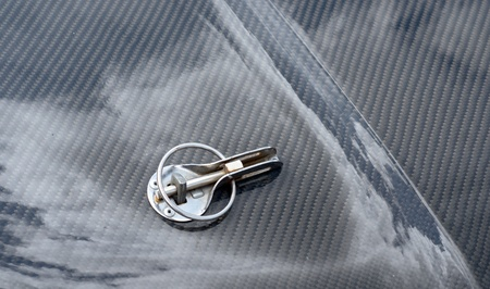 detail of a luxury car on a background photo
