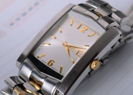 luxury man watch detail, close up photo