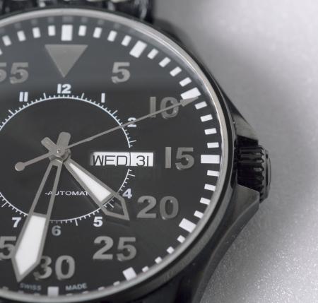 luxury man watch detail, close up