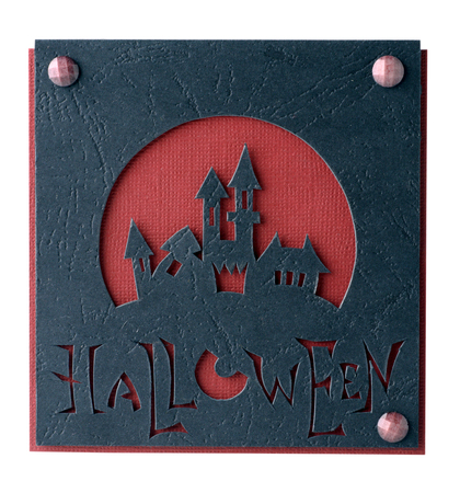 Postcard on Halloween isolated on a white background photo