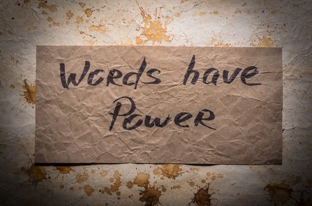 popular: Popular quotes. Words have Power Stock Photo