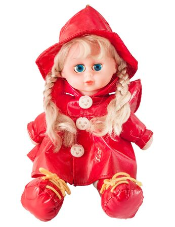 little red riding hood: Doll Little Red Riding Hood isolated on a white background Stock Photo