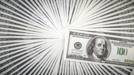 pack of dollars: pack of dollars close up Stock Photo