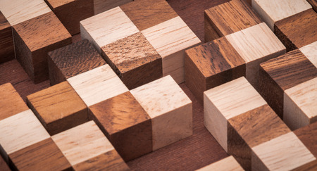 disjoint: wooden puzzle for the development of thinking