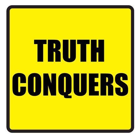 slogans: Vector illustration. Illustration shows Famous slogans. Truth conquersΠIllustration
