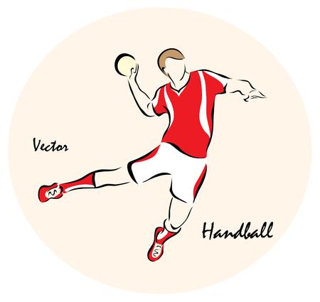 balonmano: Ilustraci�n del vector. La ilustraci�n muestra a Deportes Ol�mpicos de Verano. Handball? Vectores