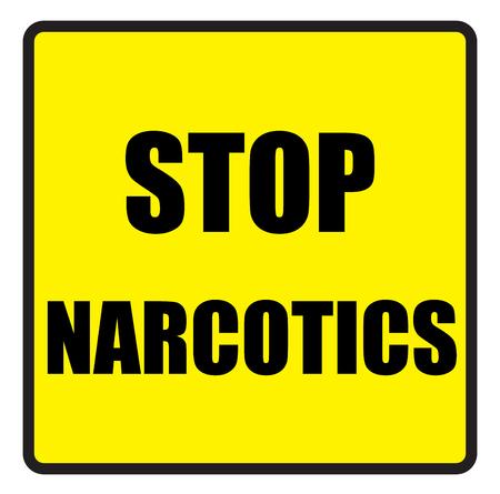 slogans: Vector illustration. Illustration shows Famous slogans. Stop narcoticsÂŒ