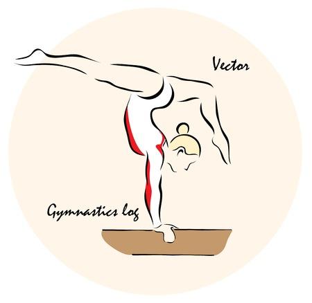 gymnastics girl: Vector illustration. Illustration shows a Summer Olympic Sports. GymnasticsŒ