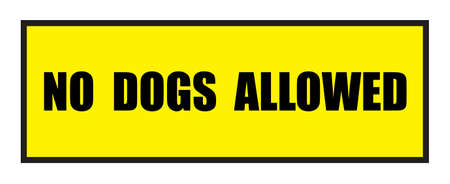 slogans: Vector illustration. Illustration shows Famous slogans. No dogs allowedΠIllustration