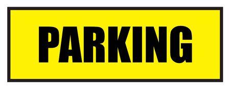 slogans: Vector illustration. Illustration shows Famous slogans. ParkingΠIllustration