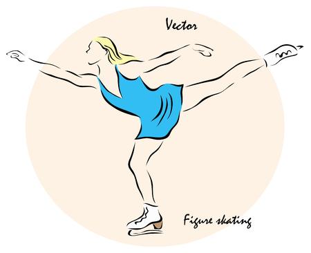 choreography: Vector illustration. Illustration shows a Winter sports competition Games. Figure skatingΠIllustration