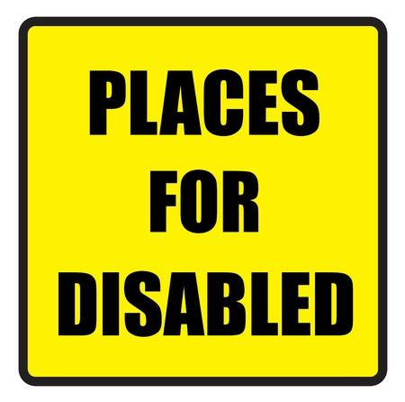 slogans: Vector illustration. Illustration shows Famous slogans. Places for disabledŒ