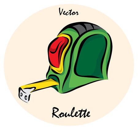 cintas metricas: Vector illustration. Illustration shows a construction tool. Construction measuring tapeŒ