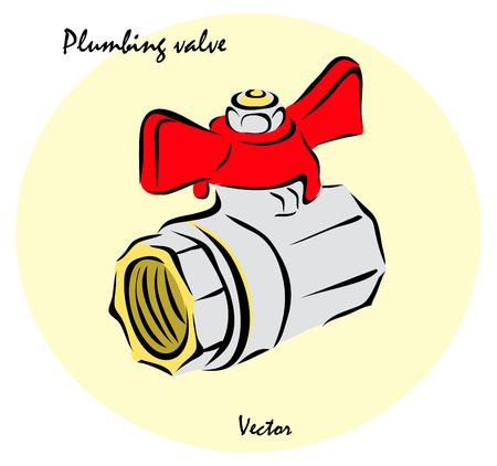 conduit: Vector illustration. Illustration shows a Plumbing Tools. Plumbing valveŒ