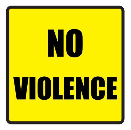 slogans: Vector illustration. Illustration shows Famous slogans. No violenceΠIllustration