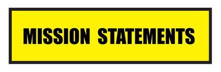 slogans: Vector illustration. Illustration shows Famous slogans. Mission statementsΠIllustration