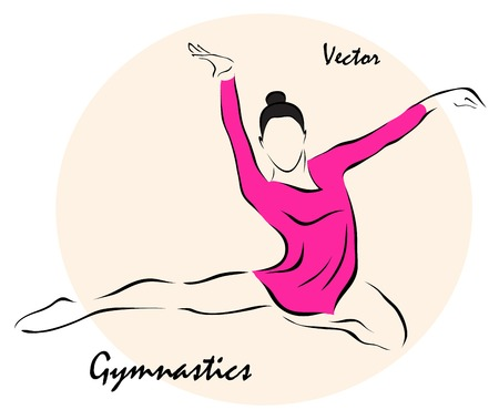 leotard: Vector illustration. Illustration shows a Summer Sports. Free callisthenics