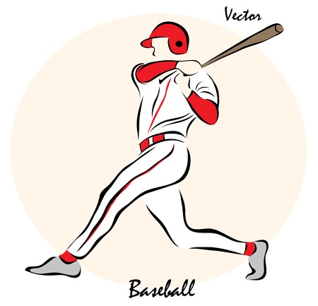 pitching: Vector illustration. Illustration shows a BaseballŒ