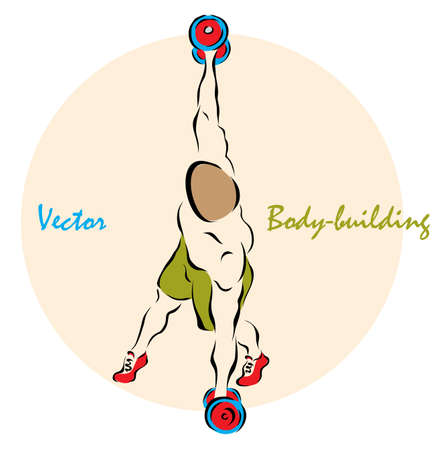 Vector illustration. Illustration shows a Body-buildingÂŒ