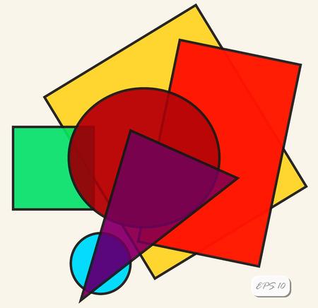 cubismo: textura geométrica. Fondo del vector. Cubismo