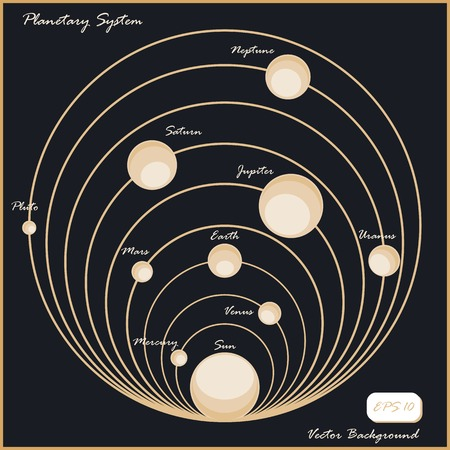 planetary: Planetary system. Vector background Illustration