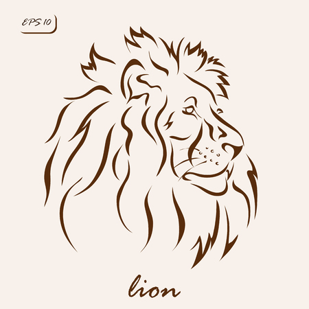 Vector illustration. Illustration shows a lion