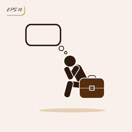 dismissal: Vector illustration showing stress, dismissal. Business concept. Sign and symbol