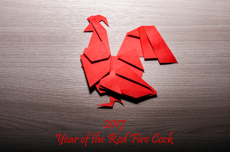 Red fire cock. Background