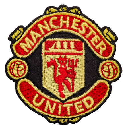 Manchester united logo stock photos royalty free business images dzerzhinsk russia june 10 2013 emblem of the football club manchester united voltagebd Image collections