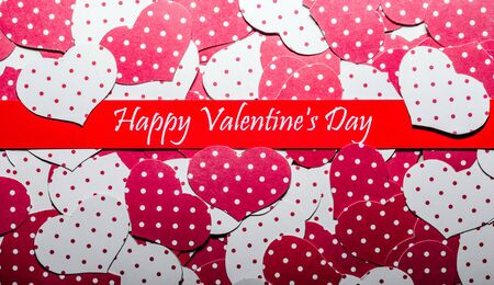 Background. Happy Valentines Day. Hearts. Love