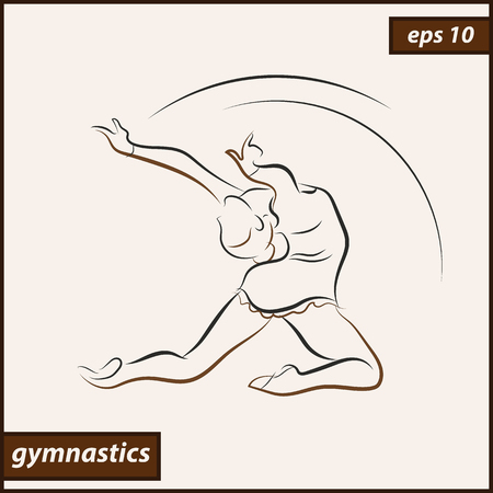 health and fitness: Illustration shows a gymnast perform acrobatic moves