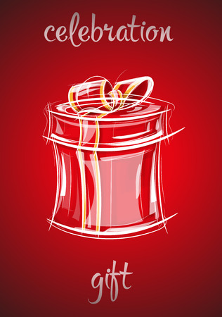 Vector illustratie toont Gift box met strik voor de vakantie Vector Illustratie