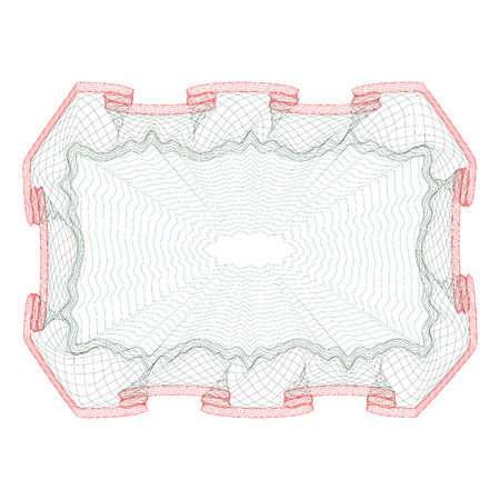 vector template design of certificate with guilloche pattern (watermarks).