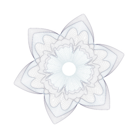 cachet: Guilloche Pattern Rosette for Certificate, Play Money or Other Security Papers - Vector Illustration,