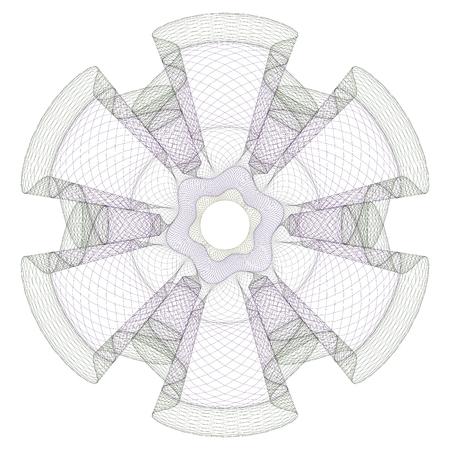 Watermark, guilloche design for background certificate and diploma. Ilustração