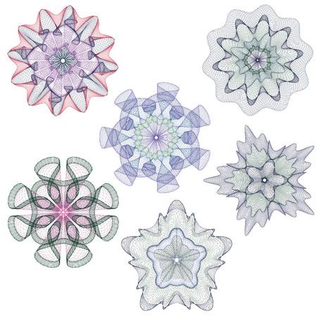 Wasserzeichen, Guilloche Design für Hintergrundzertifikat, Diplom, Vektorgrafik